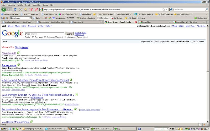 bennisblog in google