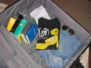 mein leerer Koffer