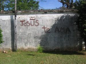 Graffity bei der Kirche