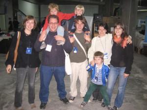 ein Teil der Hausgemeinschaftsfamilie: Wiensens, Elizabeth(!), Micky und ich