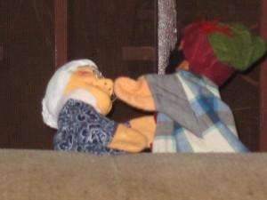 Großmutter und Räuber Hotzenplotz